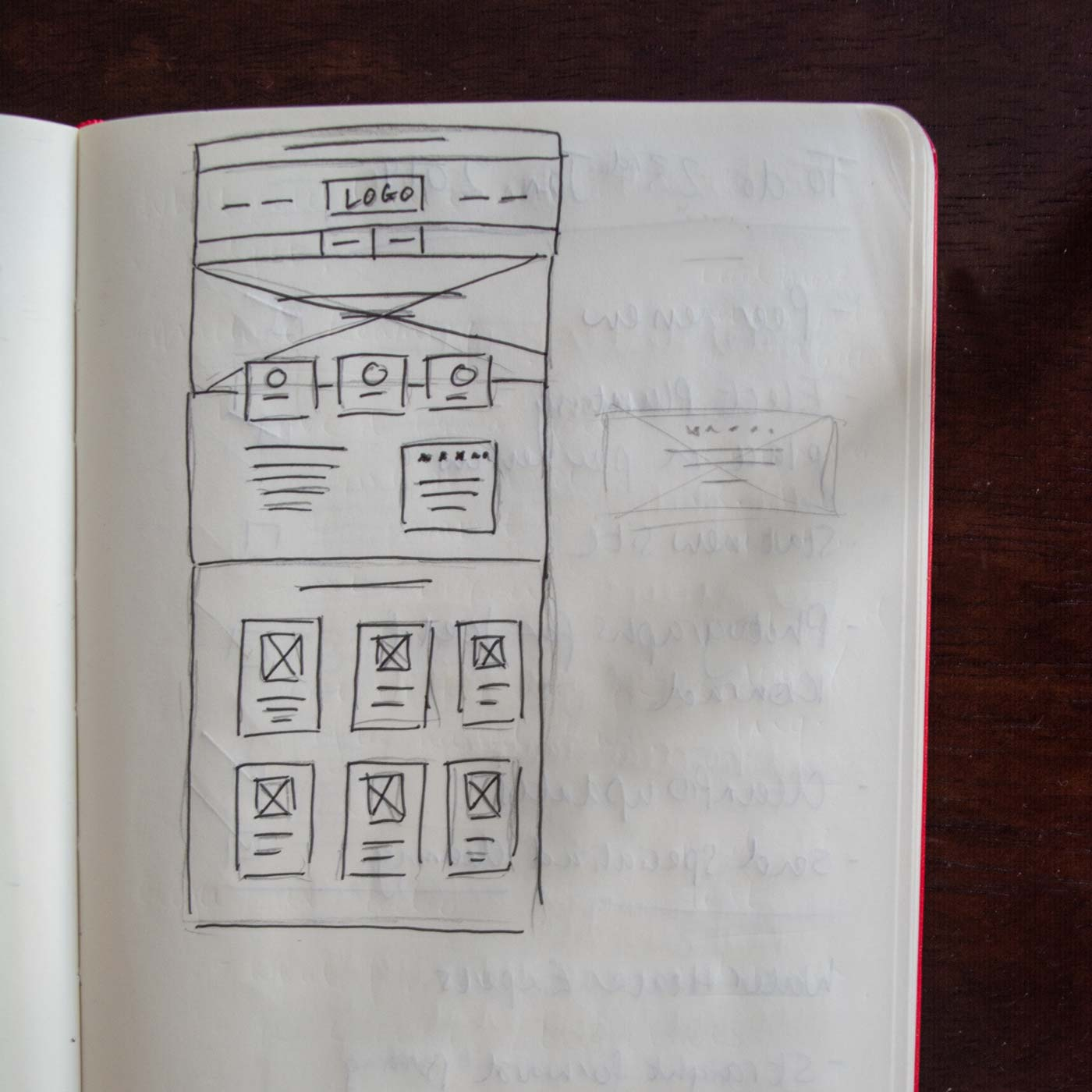 A layout sketch from my notebook