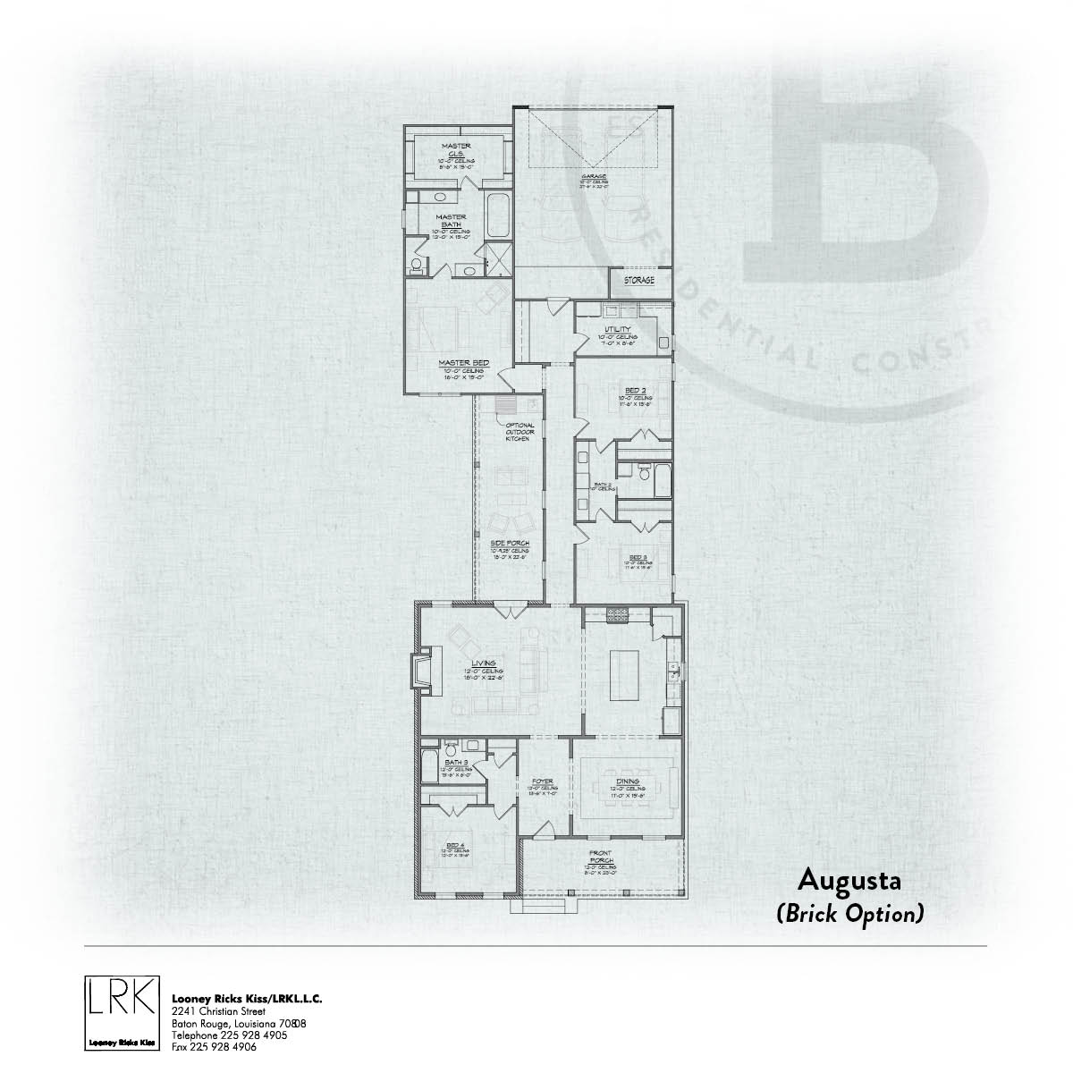 Augusta B Painted Brick Floorplan