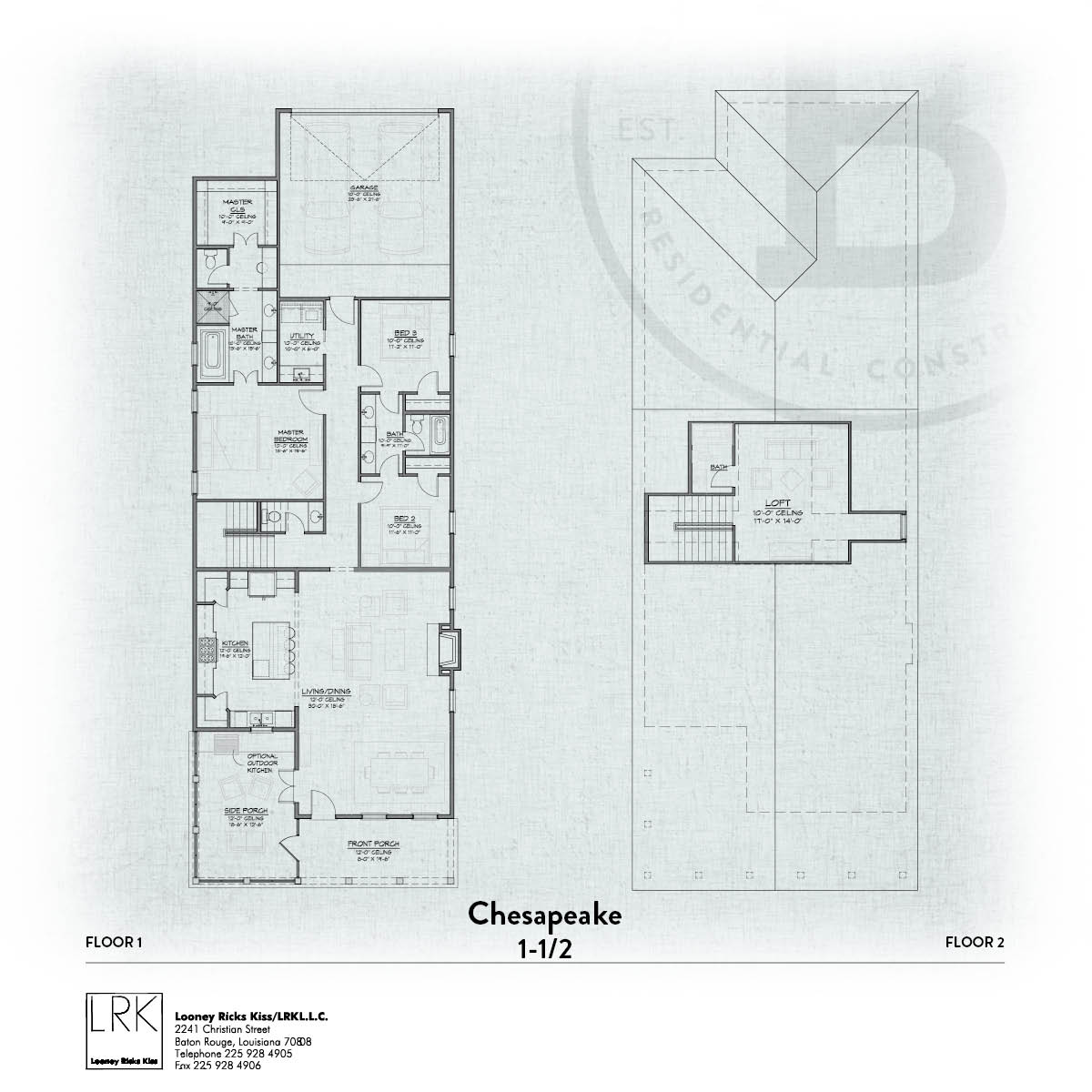 Chesapeake B Screen Porch Floorplan