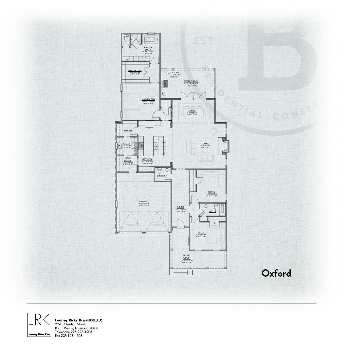 Oxford A Floorplan