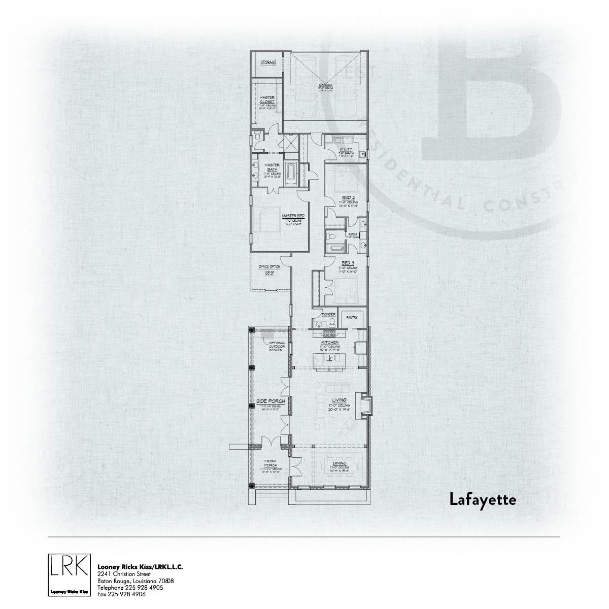 Lafayette A Floorplan