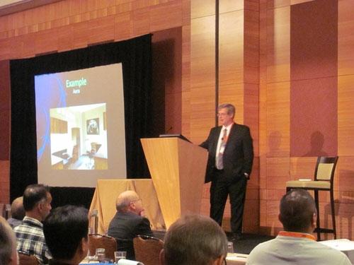 Guest speaker at a seminar