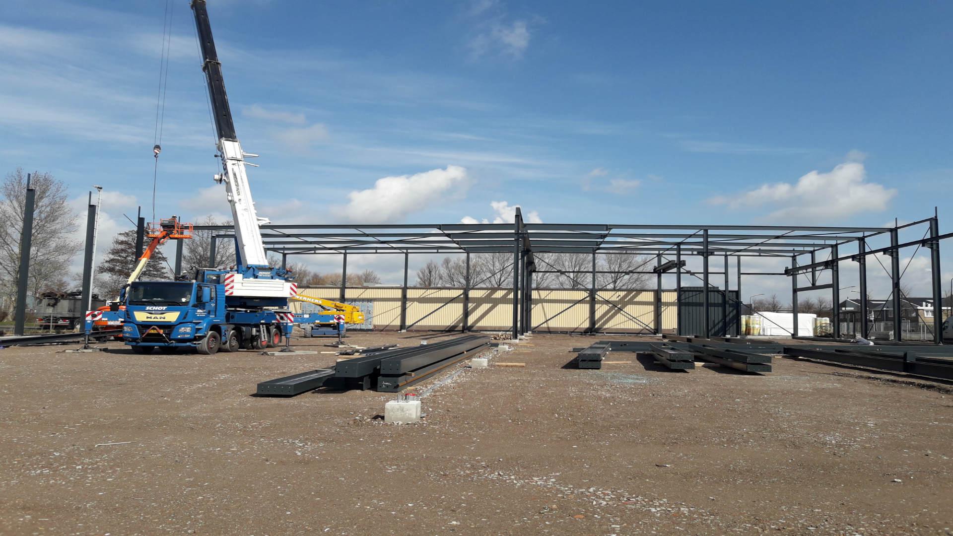 Bouw van Hal Gevelelementen Noord Holland BV voor Bouwbedrijf Cor Koper