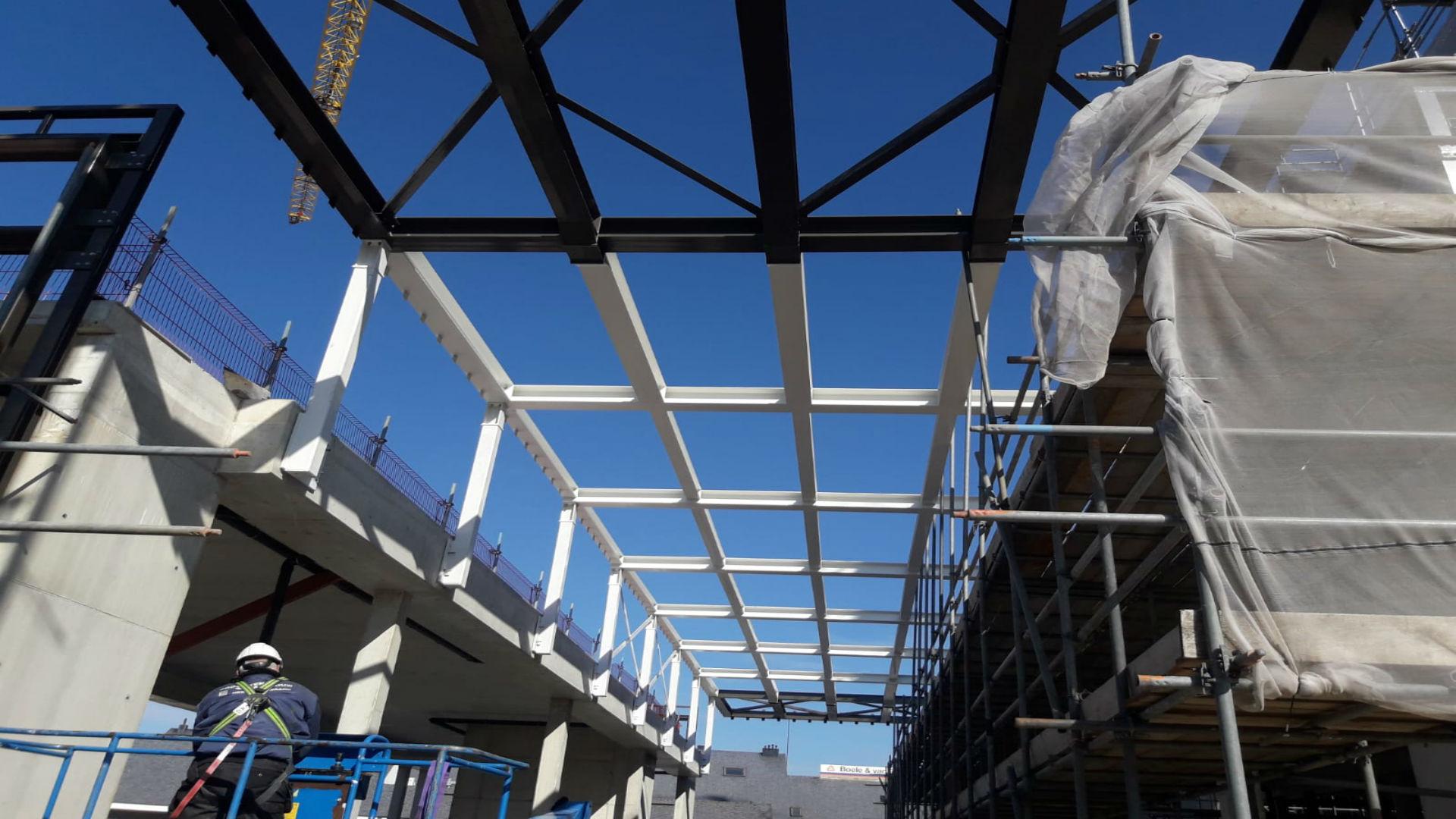 Constructie- en gevelstaal voor project Kijkduin