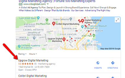 "How Upgrow Ranked #1 for ""Digital Marketing Agency"" Fast in Local Search"