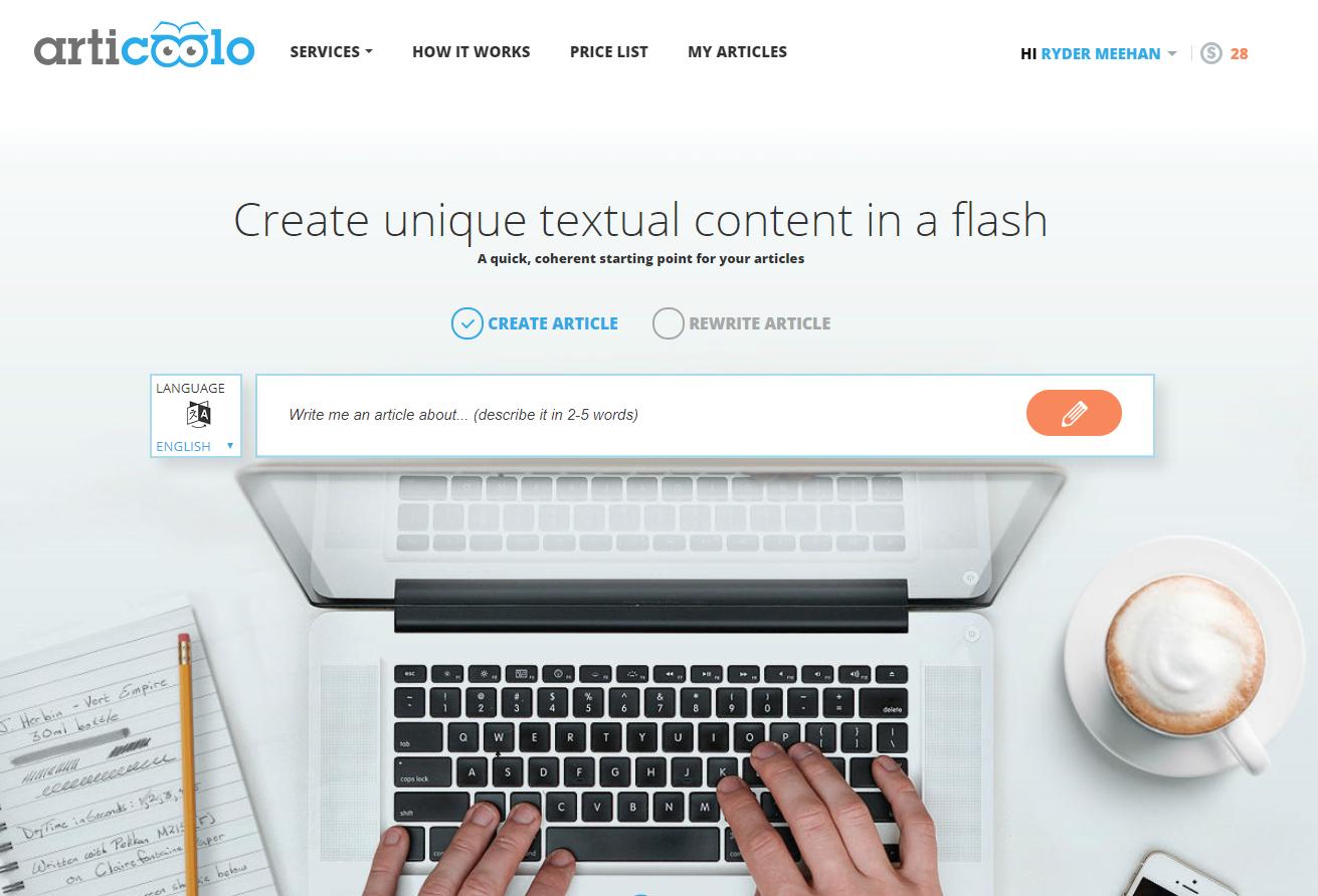 Articoolo's website