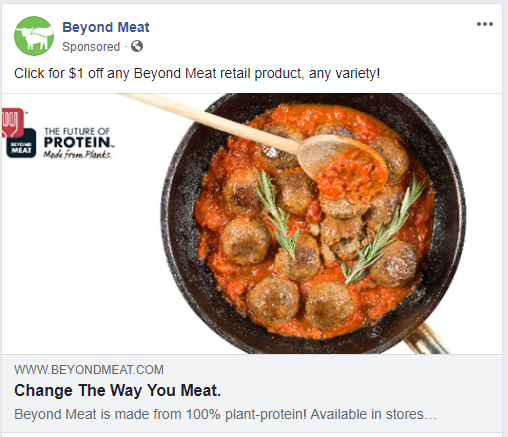 Vegan Facebook Ad