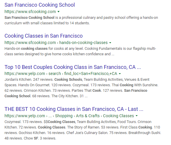 SEO for Local Cooking Classes