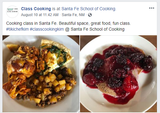 Cooking Class Social Media Post Example