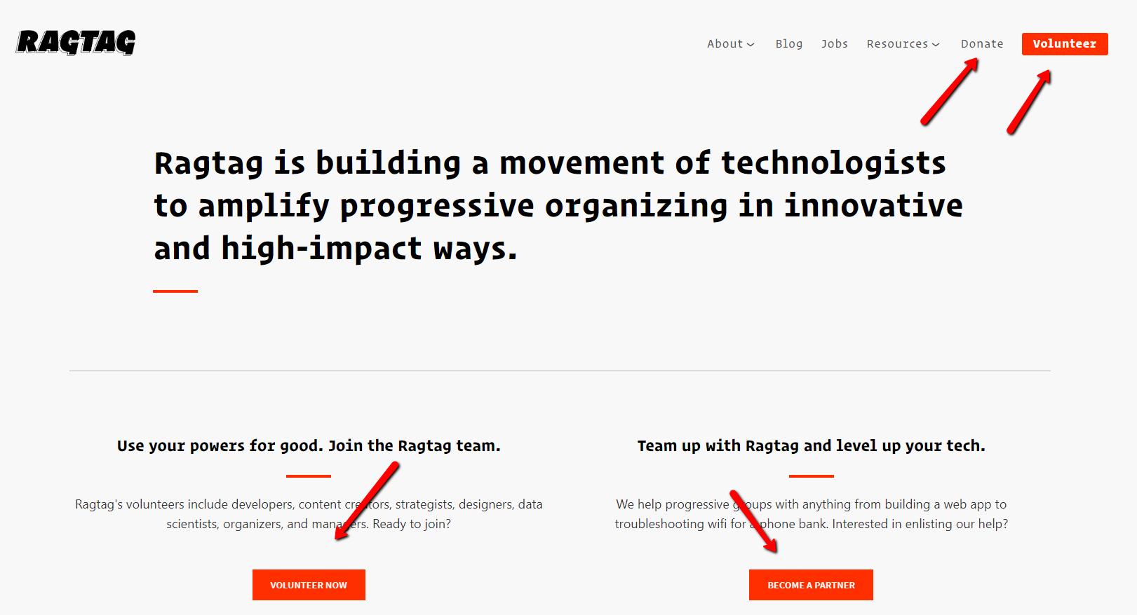 Ragtag's Website