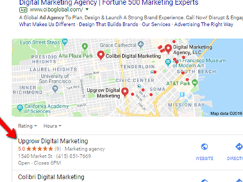 """How Upgrow Ranked #1 for """"Digital Marketing Agency"""" Fast in Local Search"""
