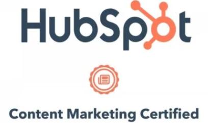 Hubspo Content Marketing certified