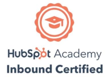 Hubspot academy inbound certified