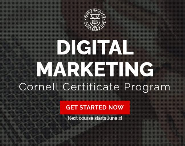 Cornell Digital Marketing Certificate Program