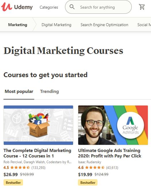 Udemy Digital Marketing Courses