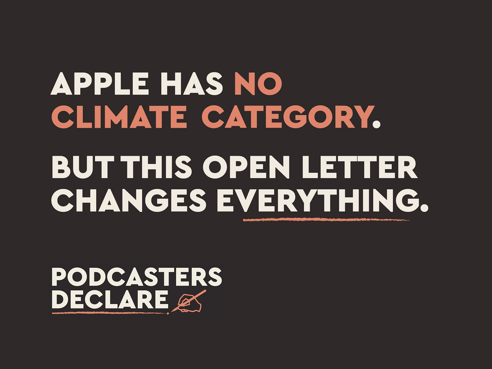 Podcasters Declare campaign message