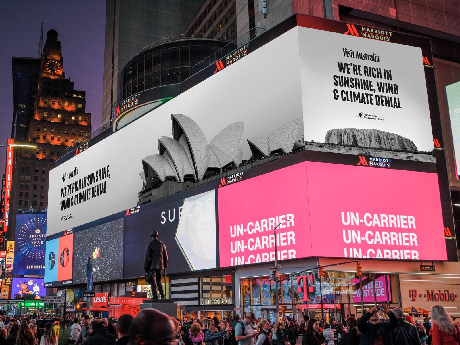 Visit Australia. Times Square, New York.
