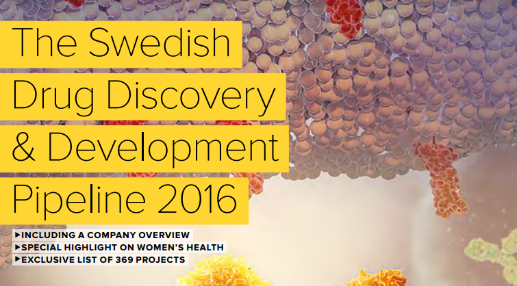 Picture showing the front page of the Swedish Drug Discovery & Development Pileline 2016