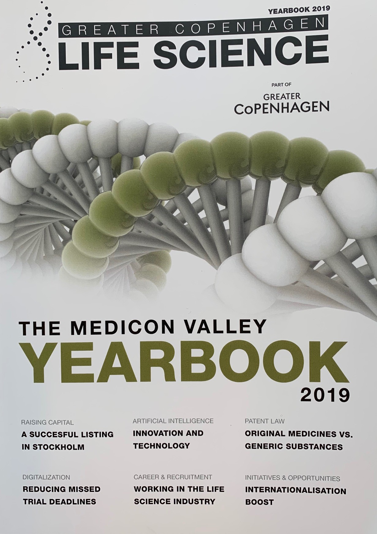 "Don´t miss the recently published ""Greater Copenhagen Life Science Yearbook 2019"""