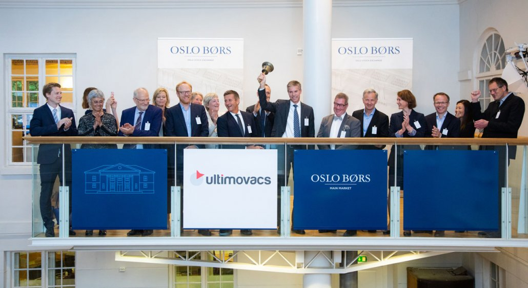 Ultimovacs enter Oslo Stock Exchange. Click here for article about Ultimovacs.