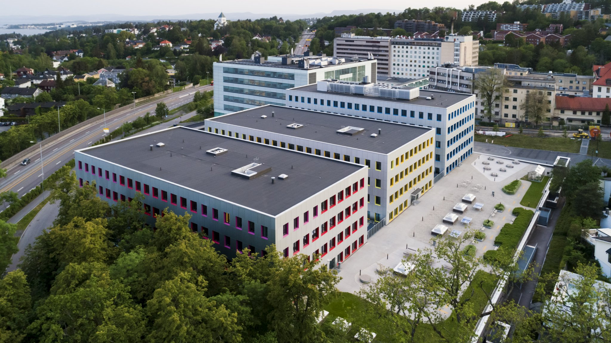 Oslo Cancer Cluster Innovation Park, the Oslo University Hospital research building and Norwegian Radium Hospital are located in the new innovation district Oslo Science City.