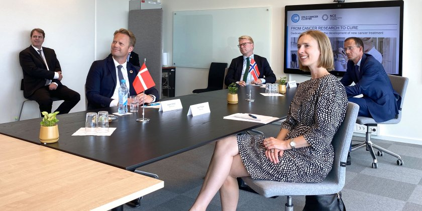 Danish Foreign Minister meets with Norwegian Trade Minister at Oslo Cancer Cluster