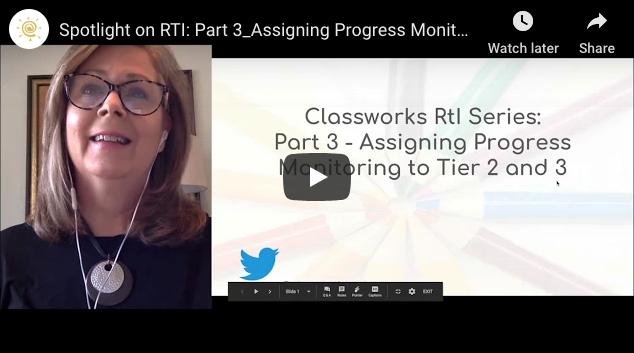 Blog | Classworks RTI Web Series