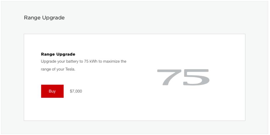 Telsa 75kWh Battery Upgrade
