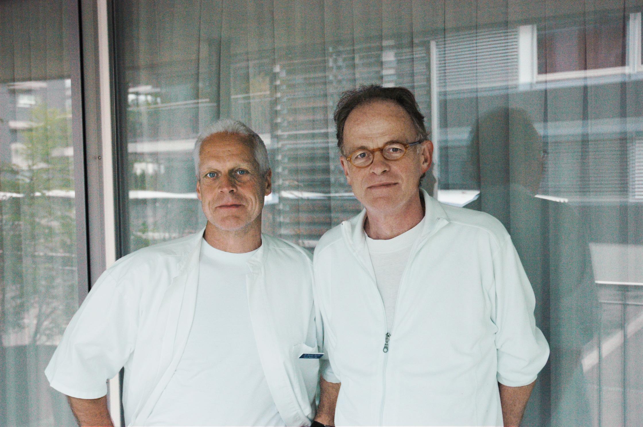 Dr. Oertle und Dr. Maggi im Jahr 2008