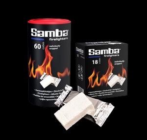 Samba individually wrapped white firelighter