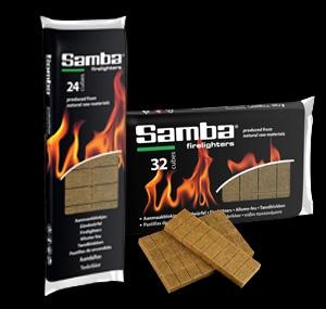 Samba Wooden Firelighters Foil