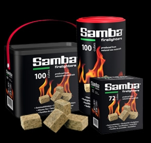 Samba wooden precut firelighter packed in box