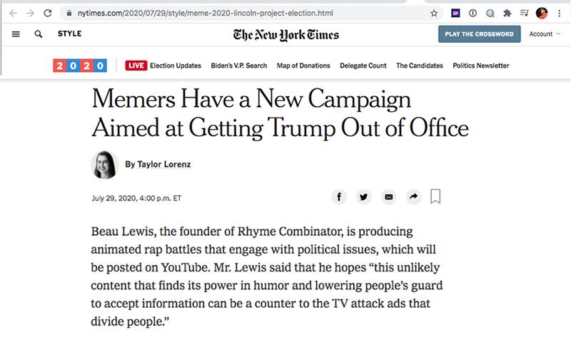 Rhyme Combinator Press New York Times