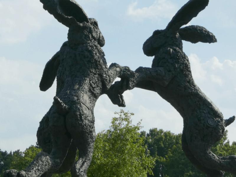giant rabbit statue