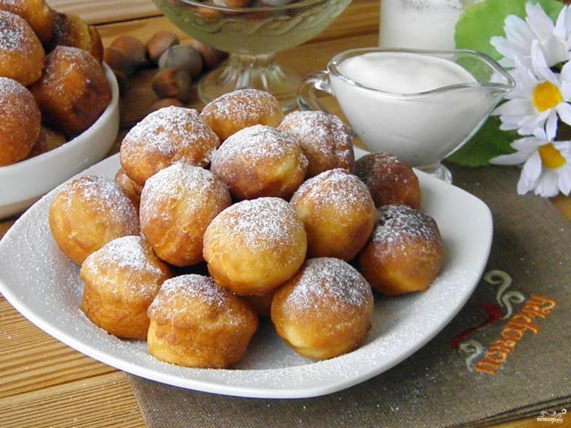 pancake balls on plate