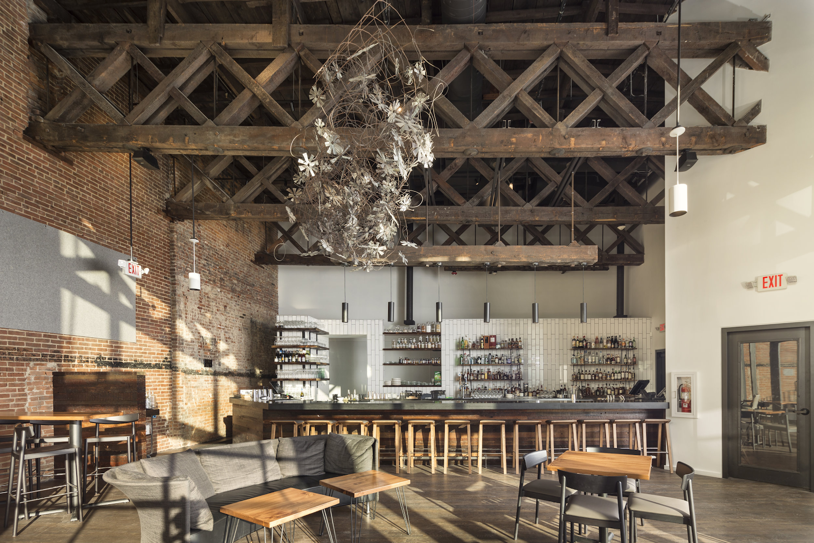 Aster bar upscale interior