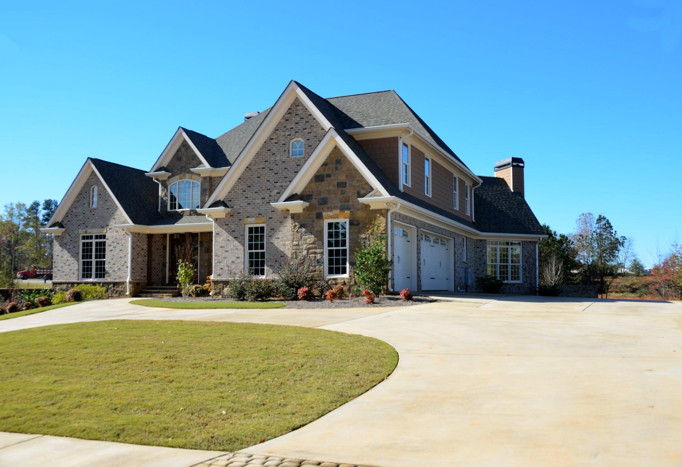 a large suburban house
