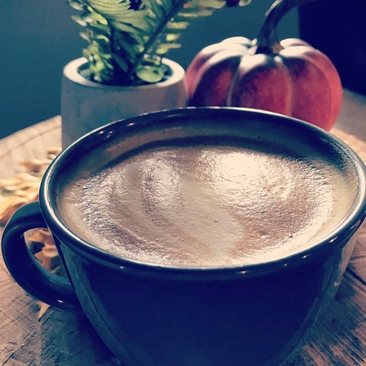 pumpkin latte from Kala Coffeehouse in Mason, OH