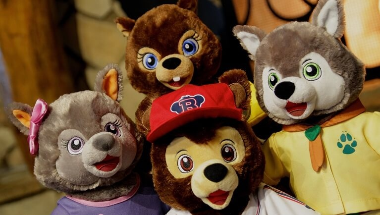 build-a-bear characters from the great wolf lodge