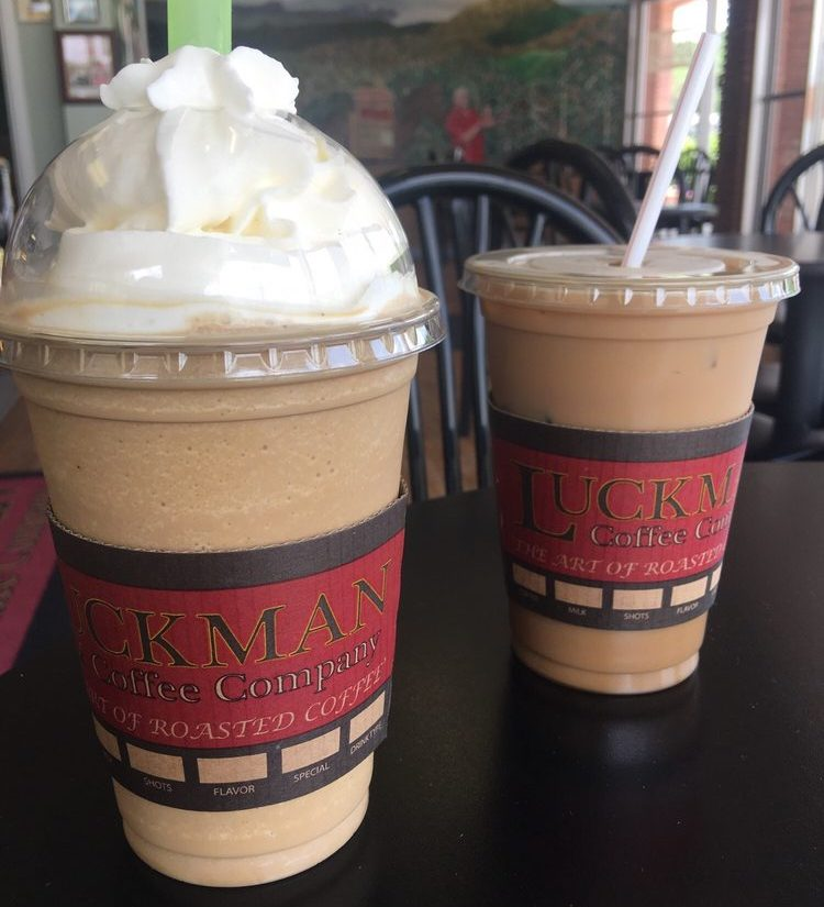 frozen & ice coffee at Luckman Coffee Company