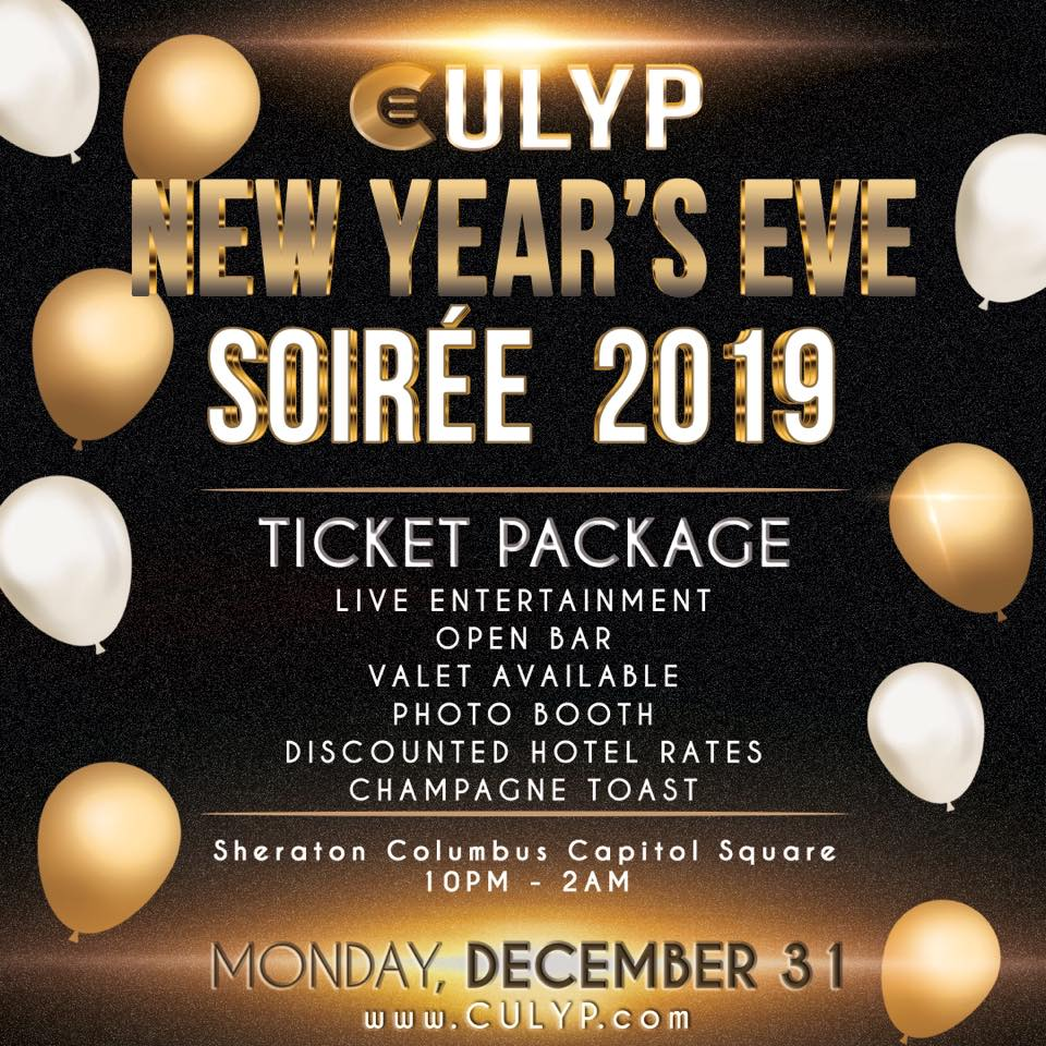 Columbus Urban League Young Professionals NYE Soiree  poster