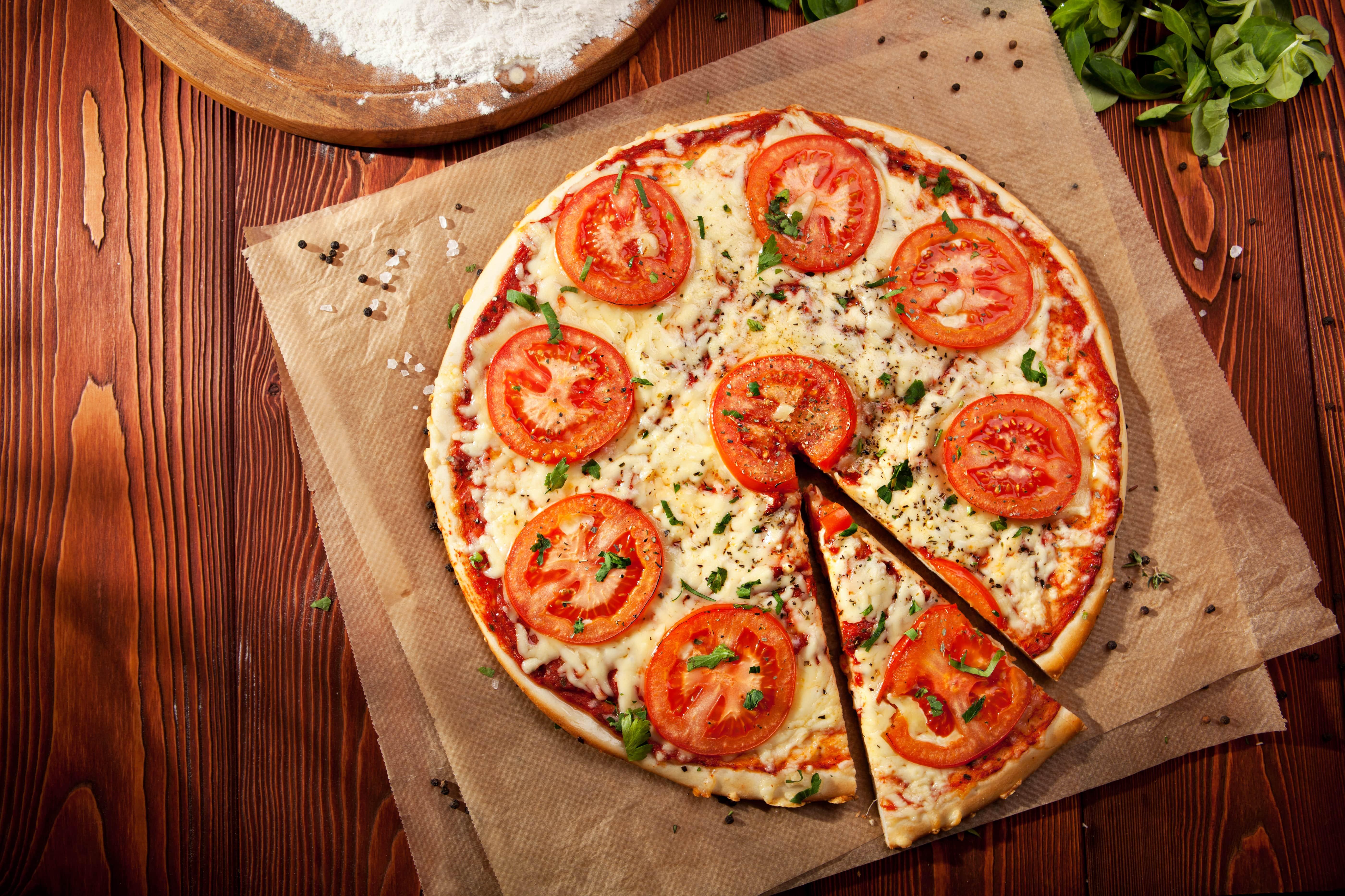 delicious pizzafrom Bono Pizza Columbus