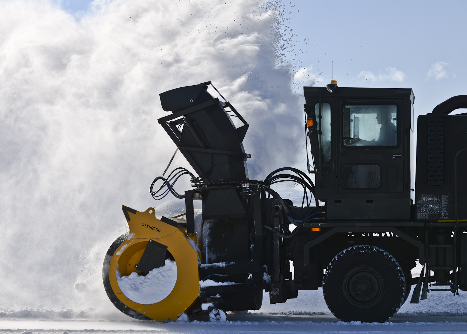 before the blizzard snow plow
