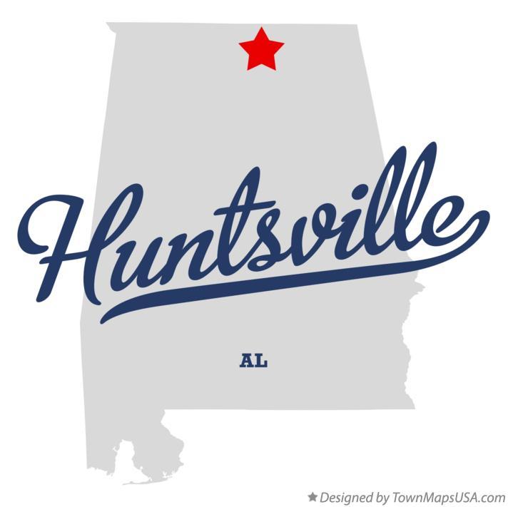 Huntsville Alabama map graphic