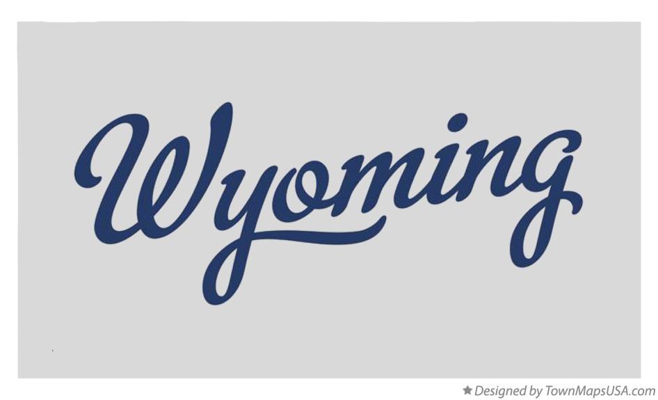 Wyoming map graphic
