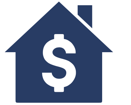 dollar sign in home icon
