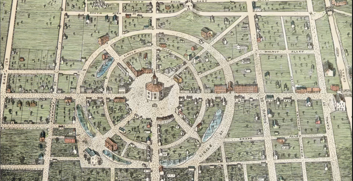 Historic map of Circleville, Ohio