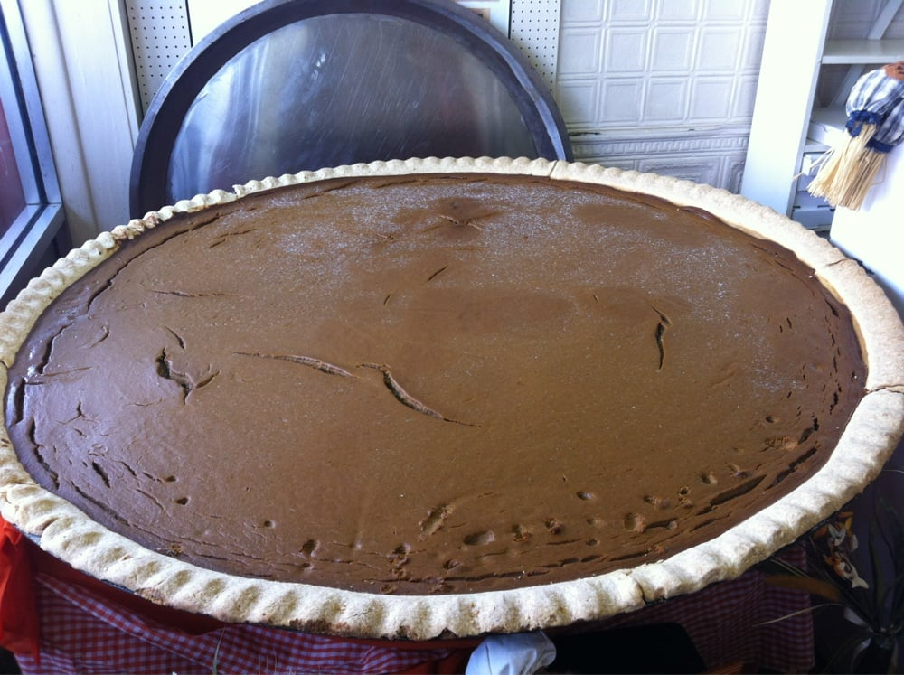 the giant pumpkin pie at Lindsey's Bakery in Circleville, Ohio