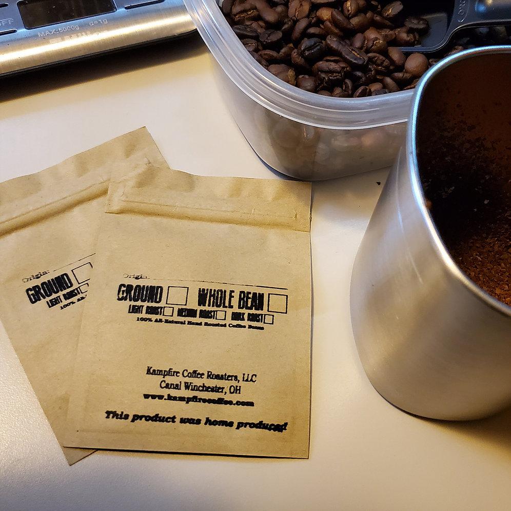 Kampfire Coffee with small sample bags