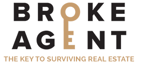 The Broke Agent Logo, a key over the words 'The Key to Surviving Real Estate'